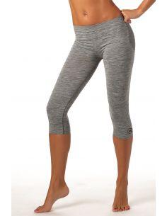 Ženske sportske capri hlače Active fit - melirane